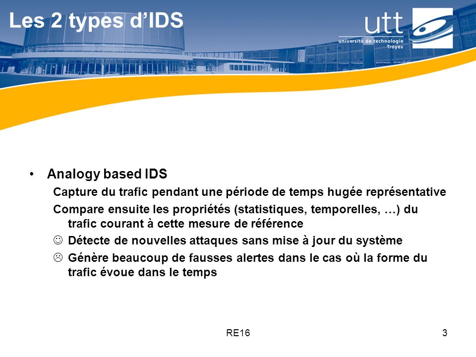 Les 2 types d'IDS Analogy based IDS