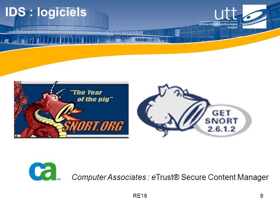 IDS : logiciels Computer Associates : eTrust® Secure Content Manager