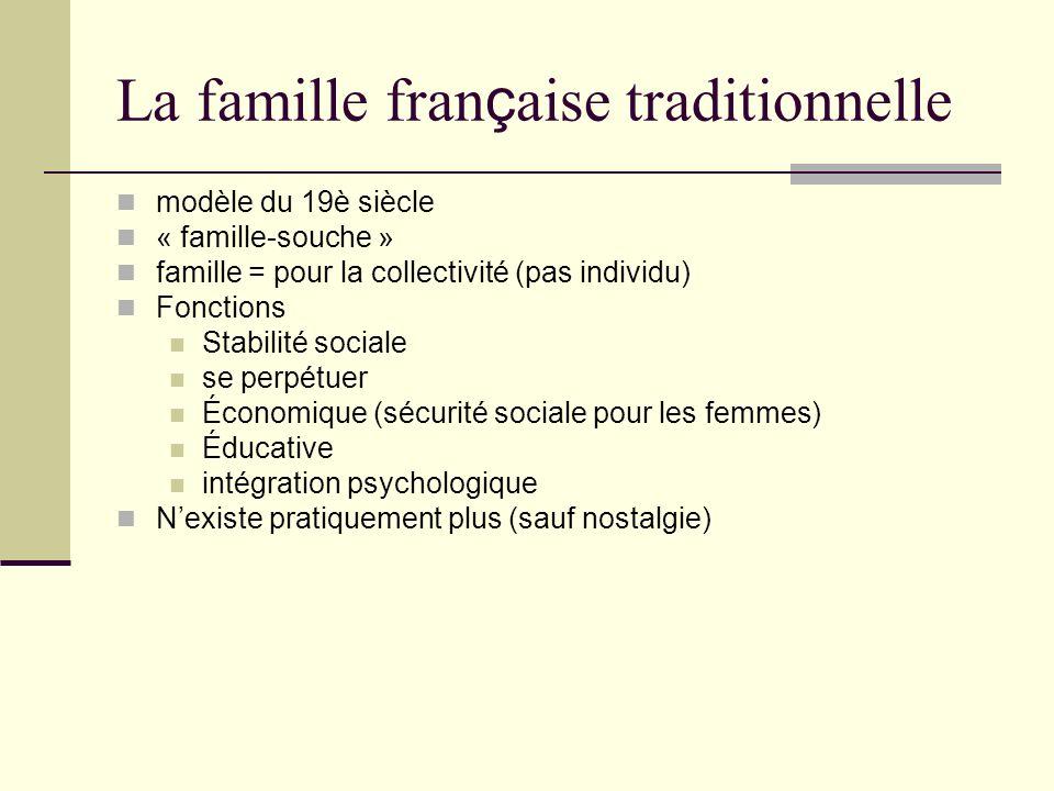 La famille française traditionnelle