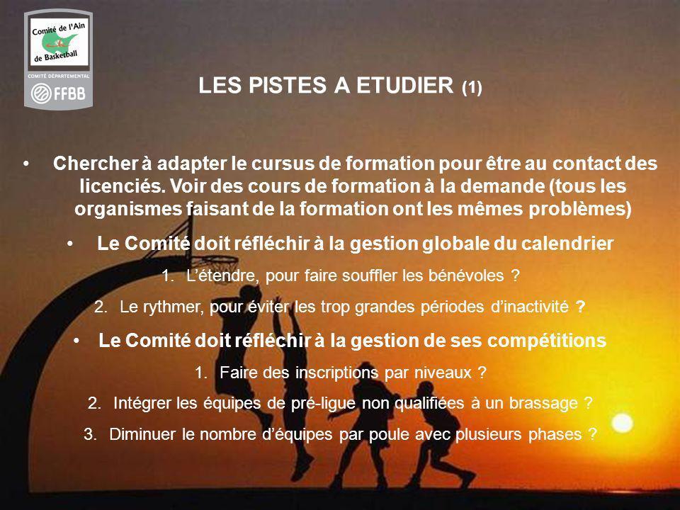 LES PISTES A ETUDIER (1)