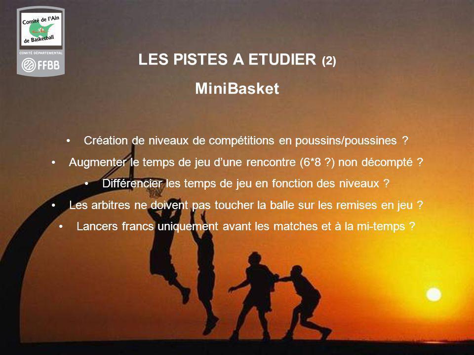 LES PISTES A ETUDIER (2) MiniBasket