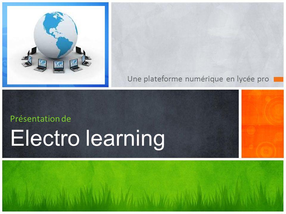 Présentation de Electro learning