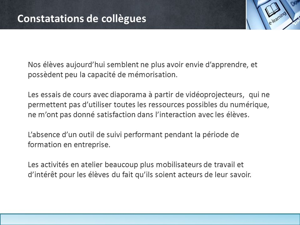 Constatations de collègues