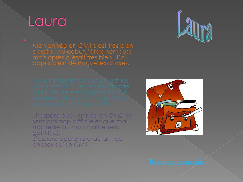 Laura Laura Retour au sommaire