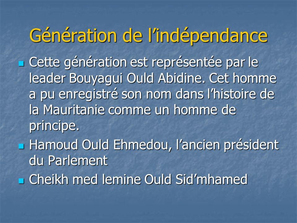 Génération de l'indépendance