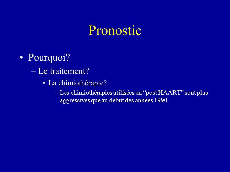 Pronostic Pourquoi Le traitement La chimiothérapie