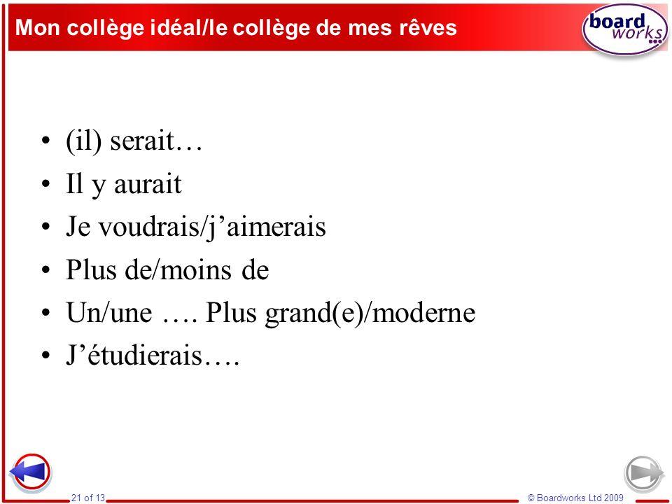 Mon collège idéal/le collège de mes rêves