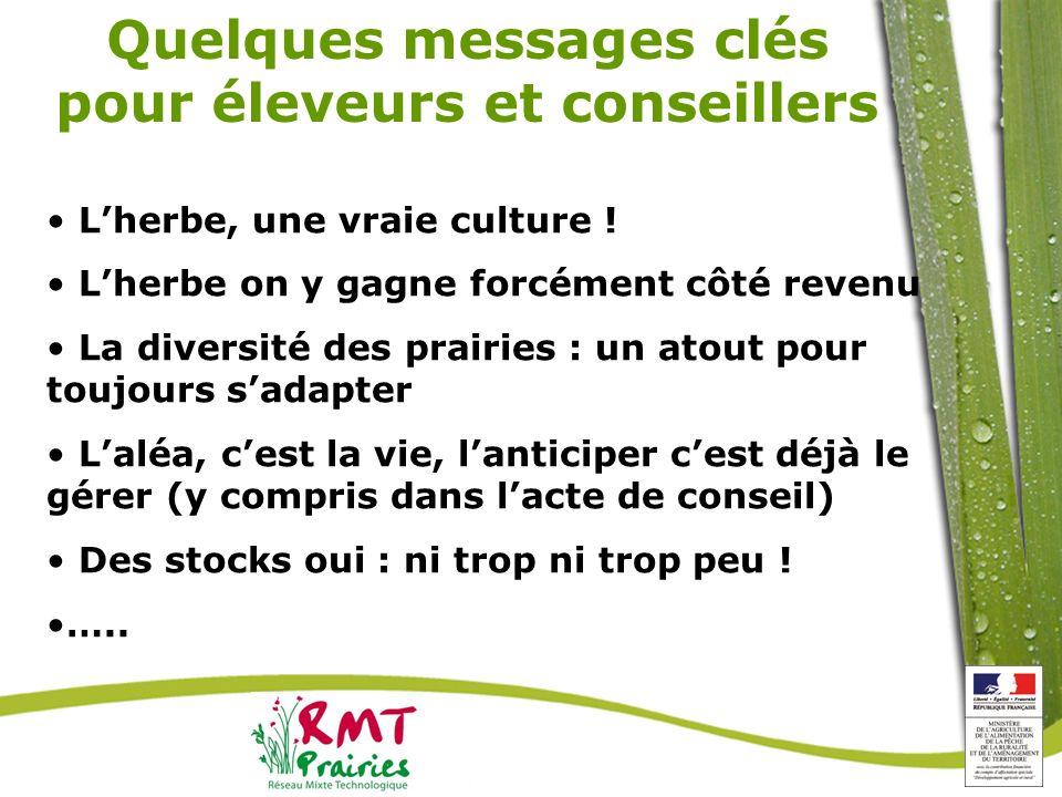 Quelques messages clés pour éleveurs et conseillers
