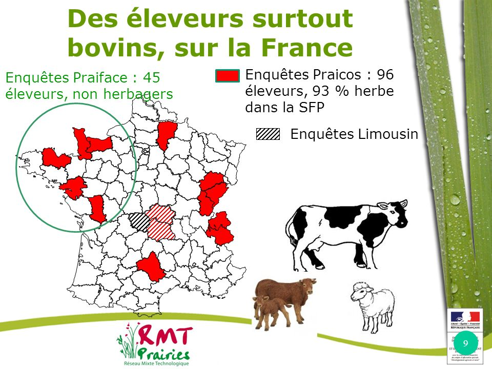 Des éleveurs surtout bovins, sur la France
