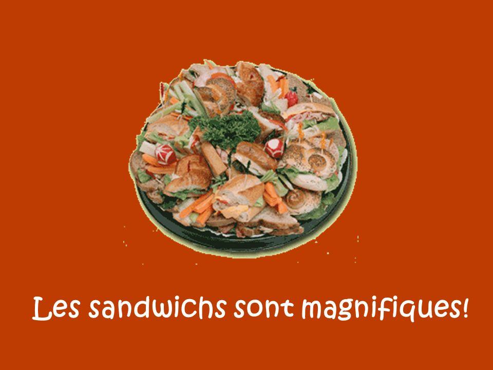 Les sandwichs sont magnifiques!