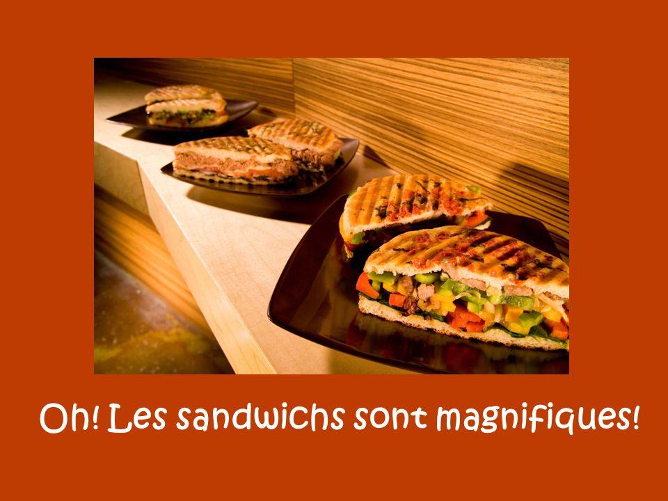 Oh! Les sandwichs sont magnifiques!