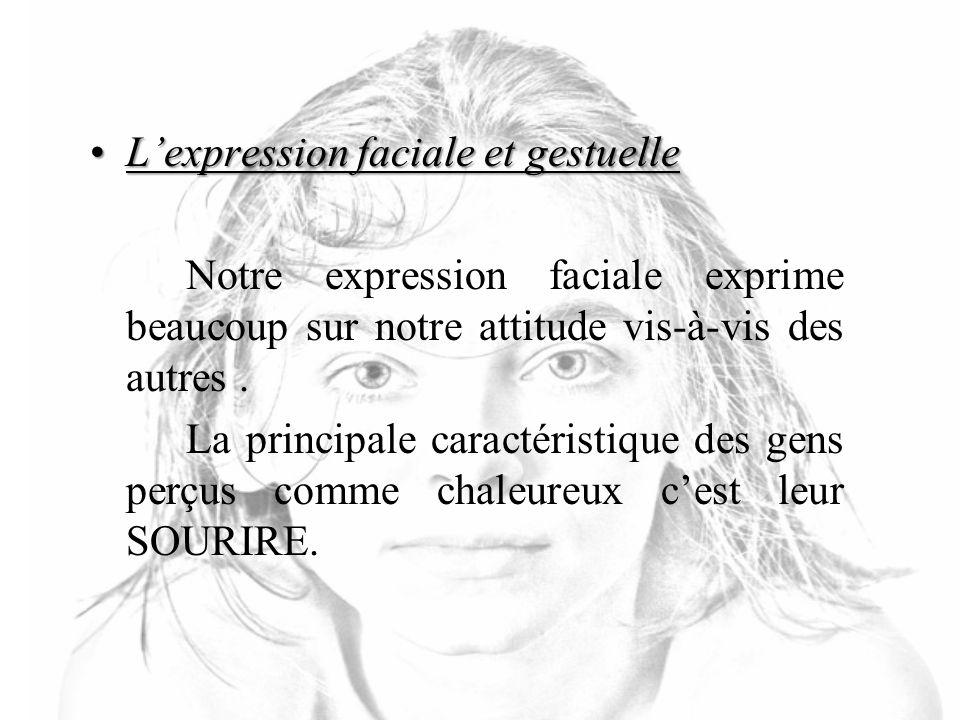 L'expression faciale et gestuelle