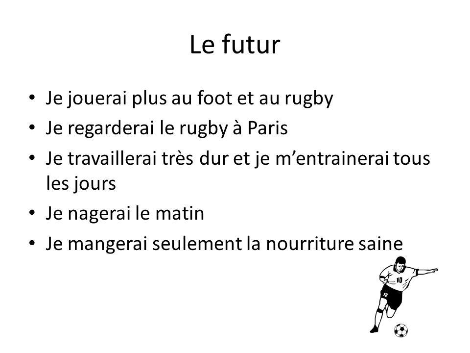 Le futur Je jouerai plus au foot et au rugby