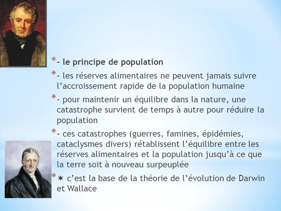 - le principe de population