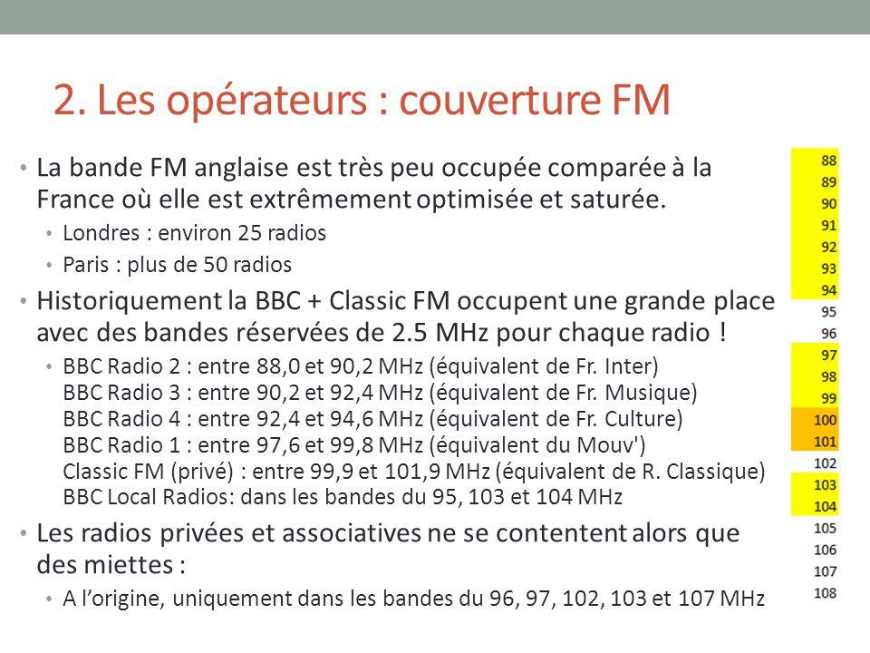 2. Les opérateurs : couverture FM