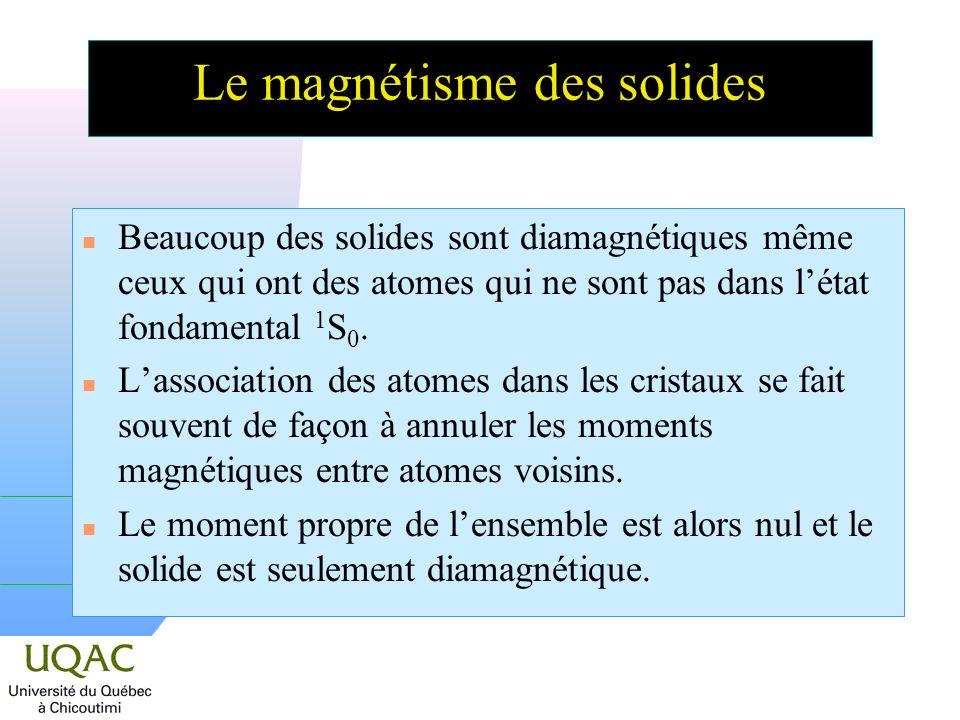 Le magnétisme des solides