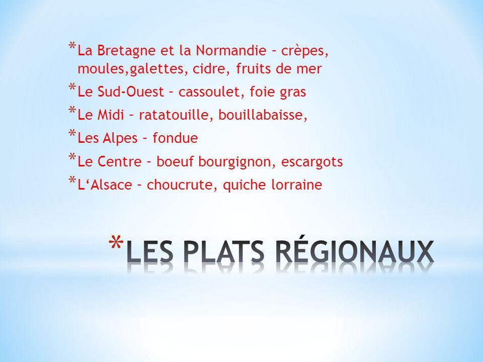 La Bretagne et la Normandie – crèpes, moules,galettes, cidre, fruits de mer