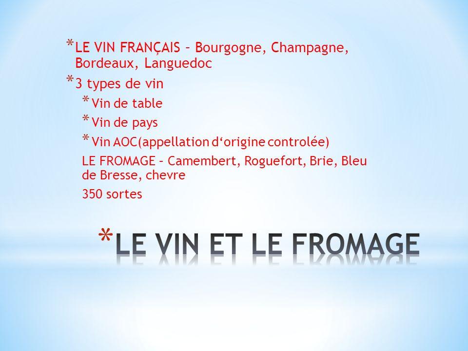 LE VIN FRANÇAIS – Bourgogne, Champagne, Bordeaux, Languedoc