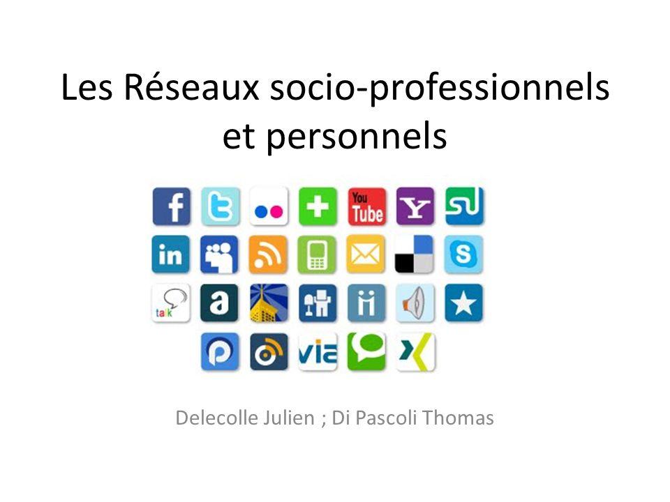 Les Réseaux socio-professionnels et personnels