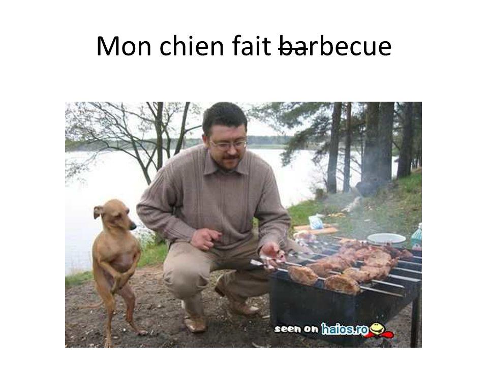 Mon chien fait barbecue