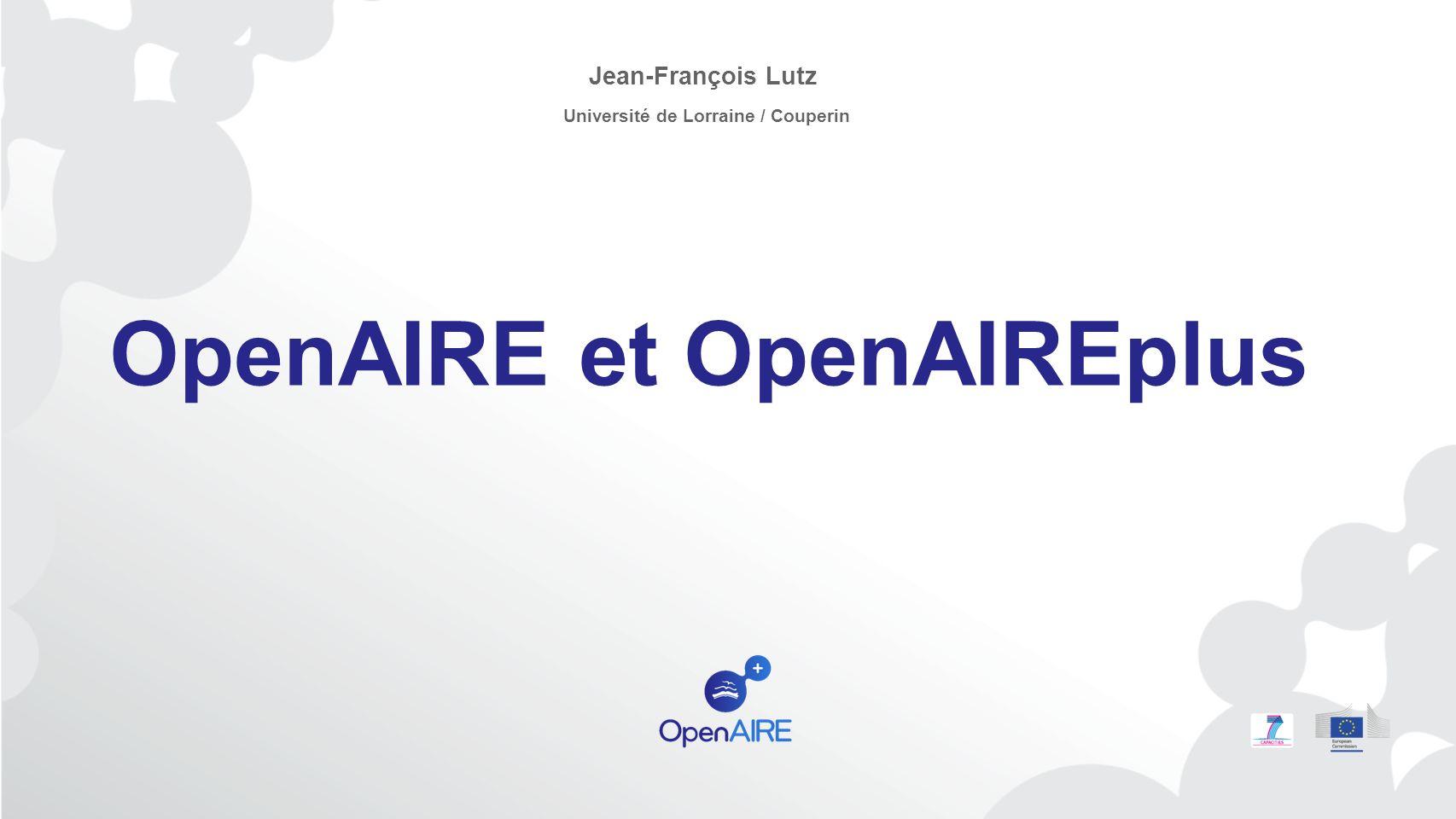 OpenAIRE et OpenAIREplus