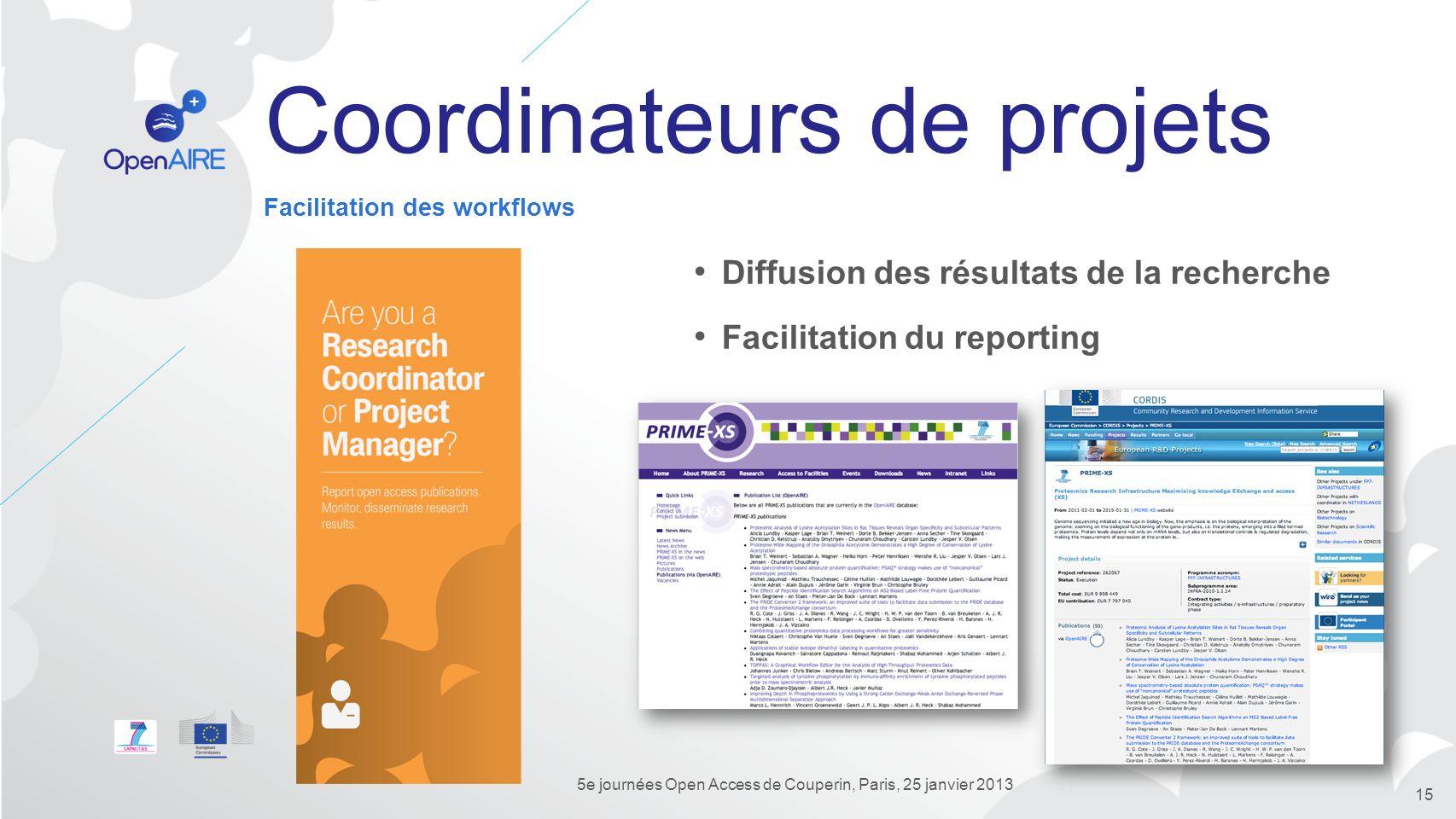 Coordinateurs de projets