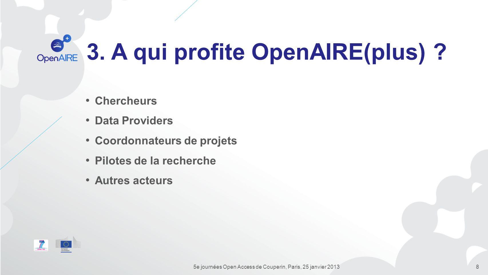3. A qui profite OpenAIRE(plus)