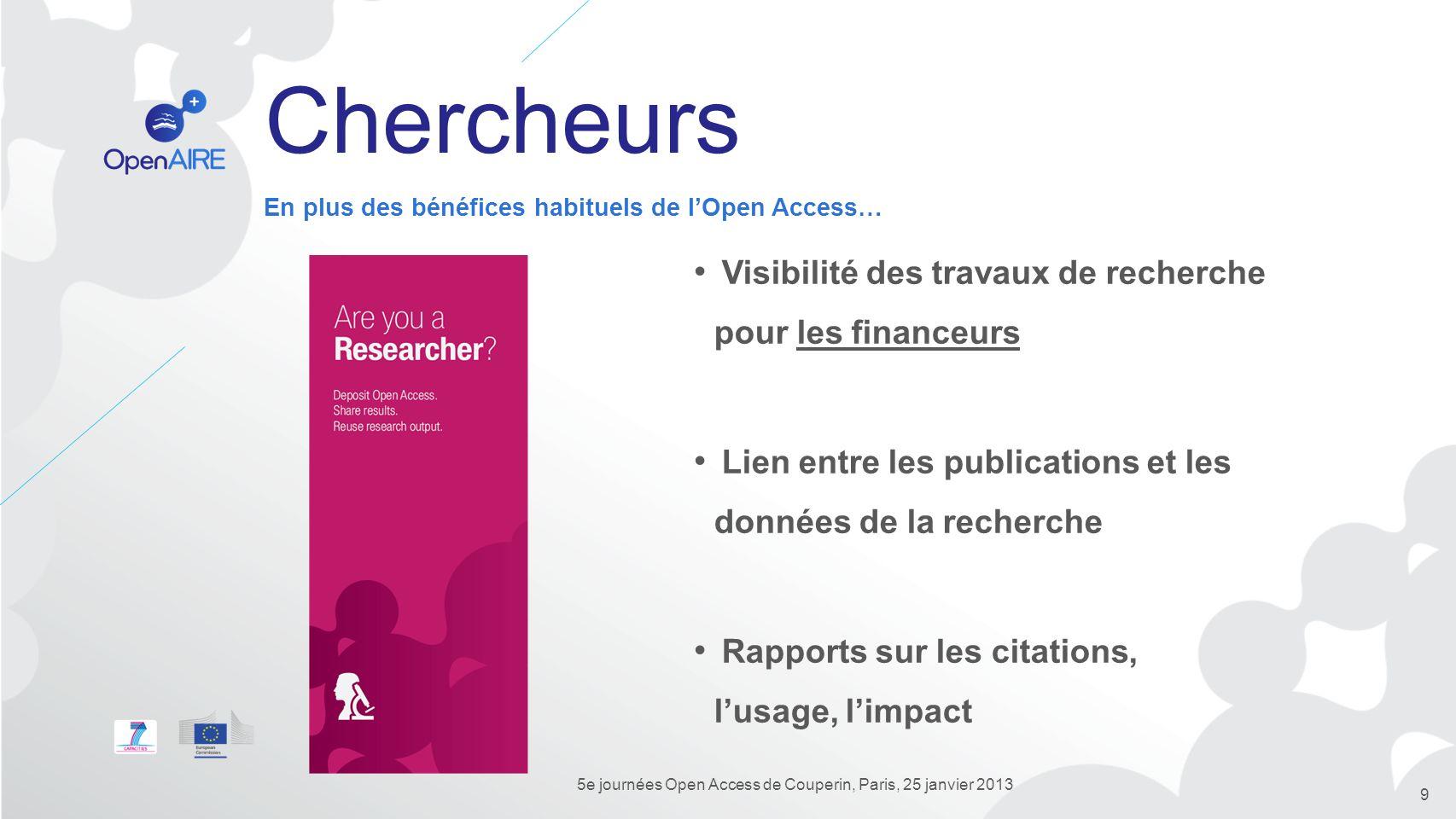 5e journées Open Access de Couperin, Paris, 25 janvier 2013
