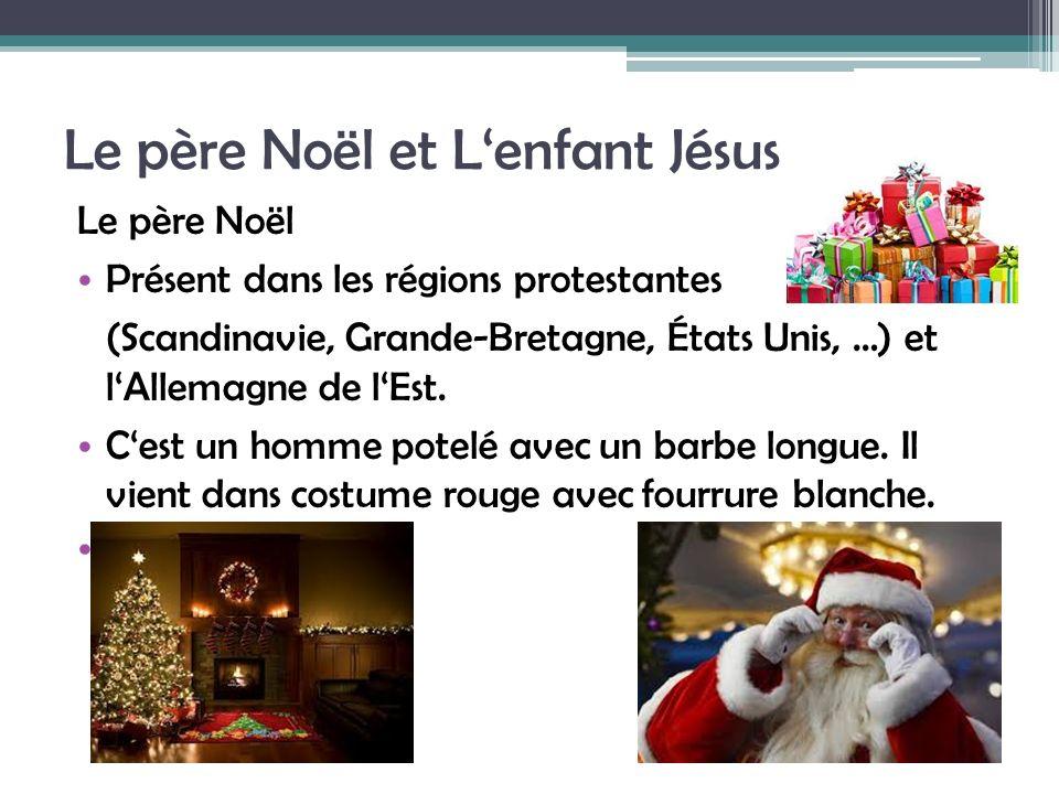 Le père Noël et L'enfant Jésus