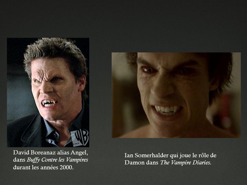 David Boreanaz alias Angel, dans Buffy Contre les Vampires durant les années 2000.