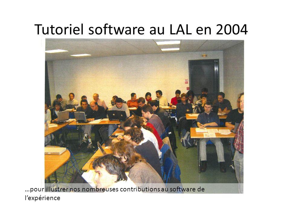 Tutoriel software au LAL en 2004