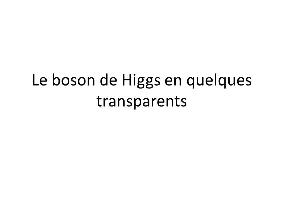 Le boson de Higgs en quelques transparents