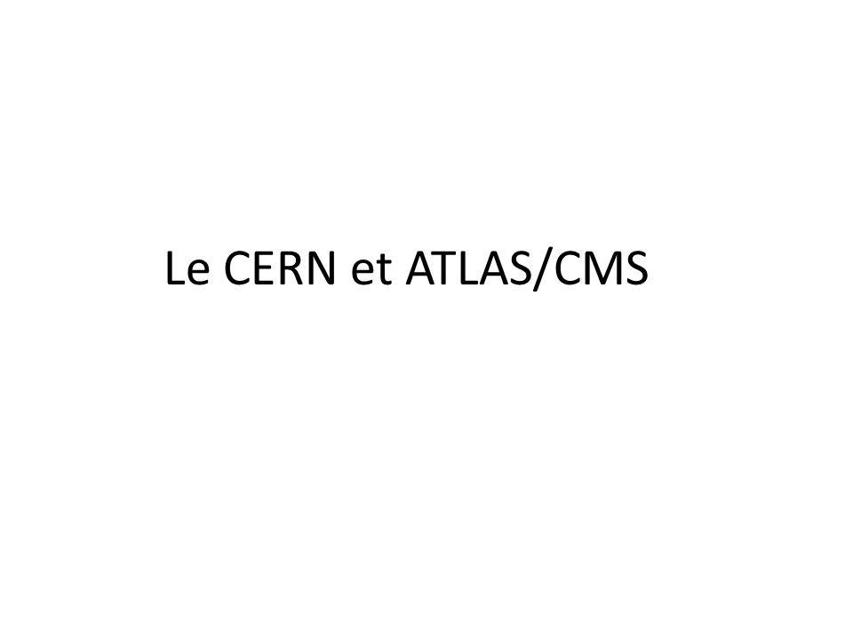 Le CERN et ATLAS/CMS
