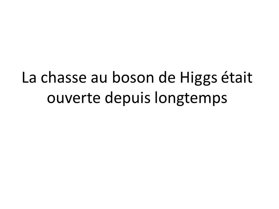 La chasse au boson de Higgs était ouverte depuis longtemps