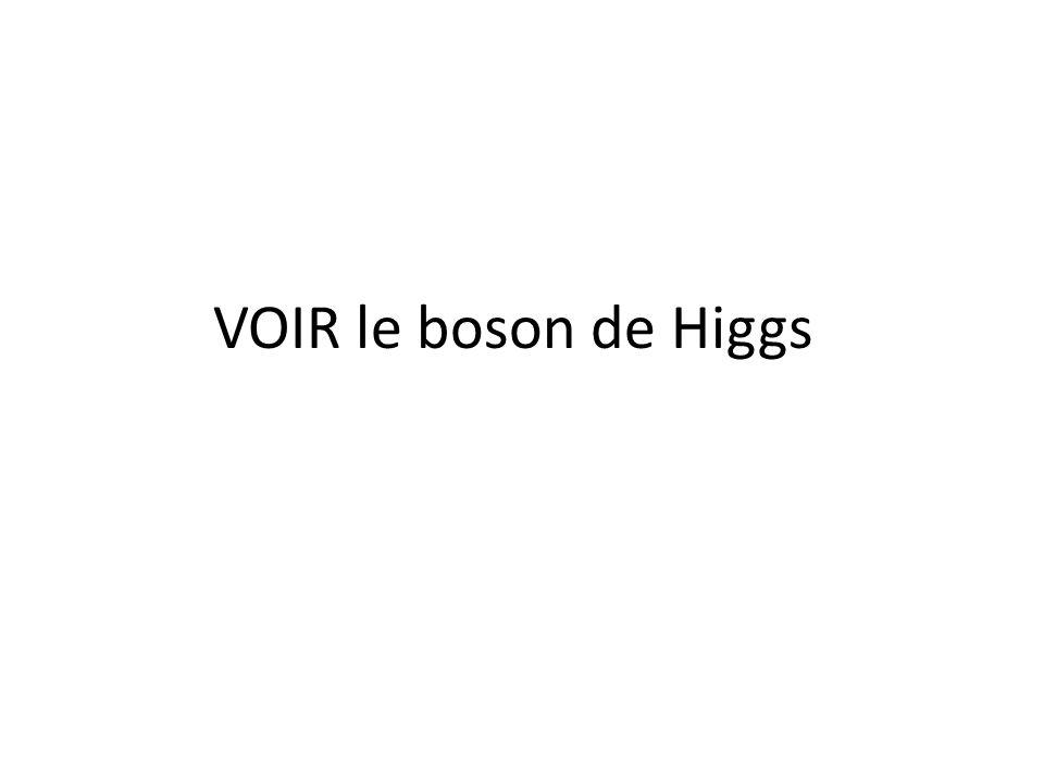 VOIR le boson de Higgs