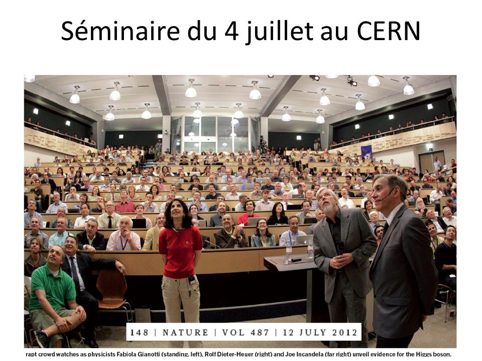 Séminaire du 4 juillet au CERN