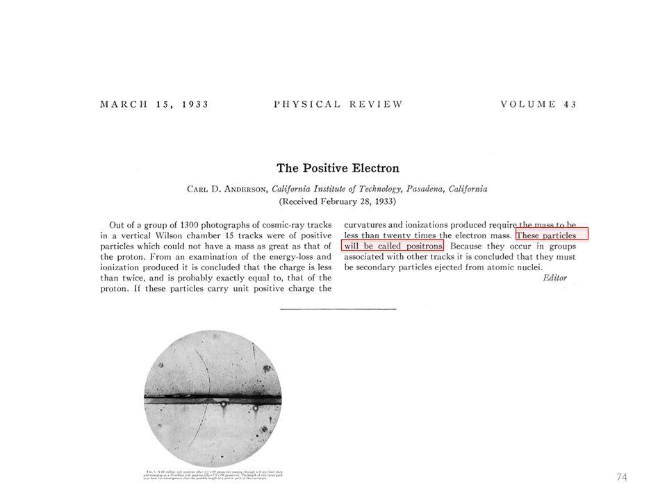 Apparemment, anderson ignorait la prédiction de Dirac