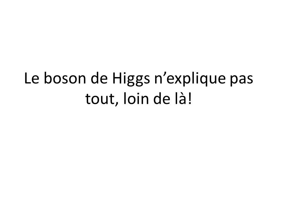 Le boson de Higgs n'explique pas tout, loin de là!