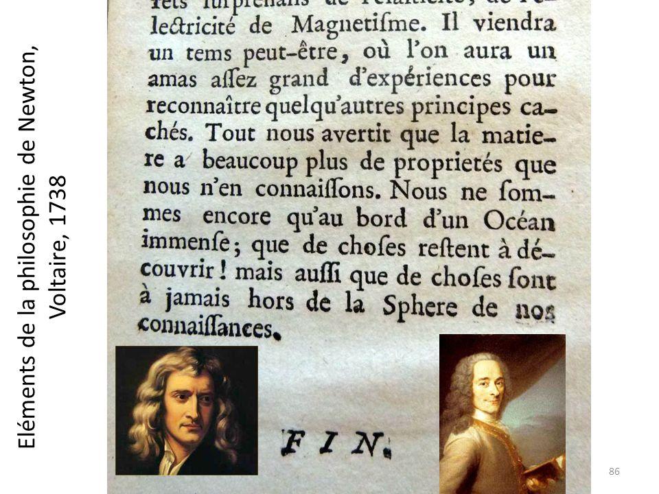 Eléments de la philosophie de Newton, Voltaire, 1738