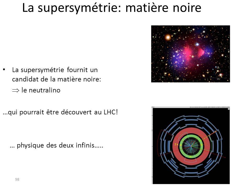La supersymétrie: matière noire