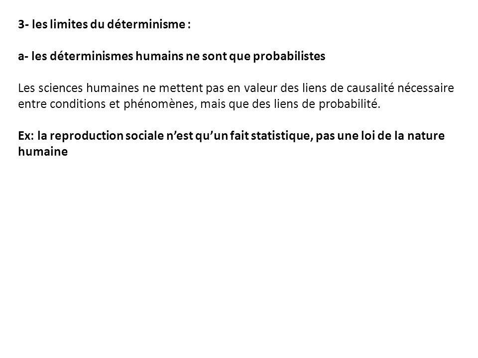 3- les limites du déterminisme :