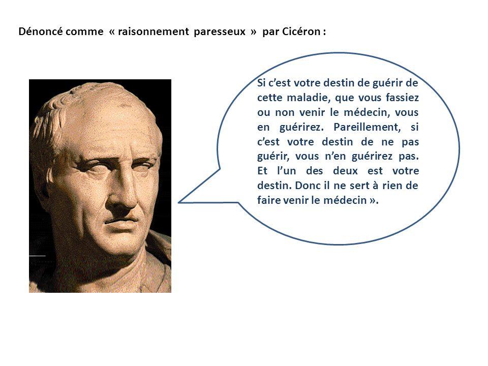 Dénoncé comme « raisonnement paresseux » par Cicéron :