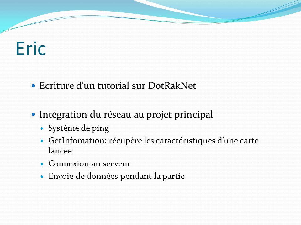 Eric Ecriture d'un tutorial sur DotRakNet