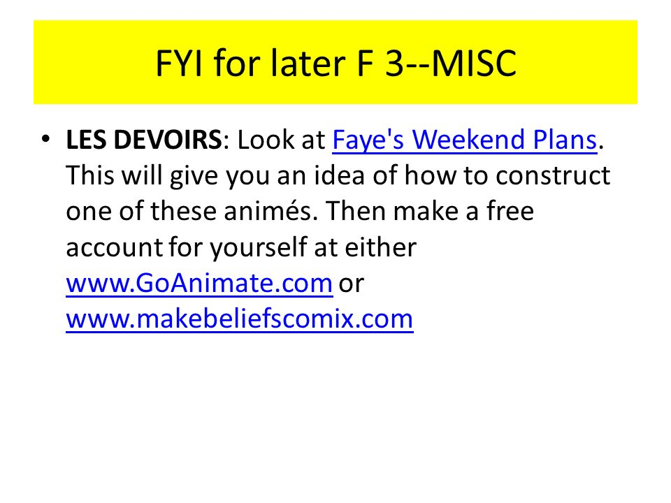 FYI for later F 3--MISC