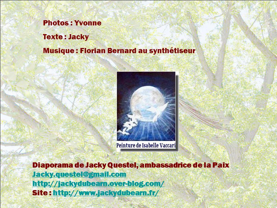 Photos : Yvonne Texte : Jacky. Musique : Florian Bernard au synthétiseur. Diaporama de Jacky Questel, ambassadrice de la Paix.