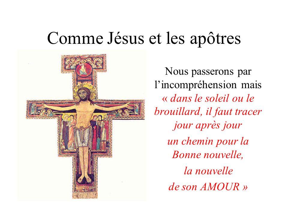 Comme Jésus et les apôtres