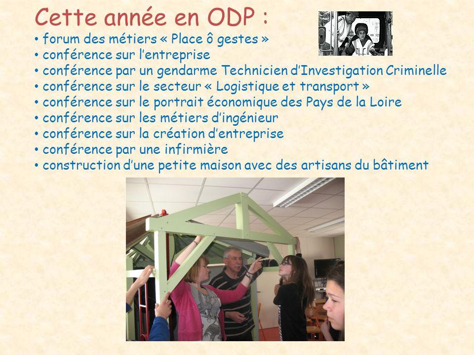 Cette année en ODP : forum des métiers « Place ô gestes »
