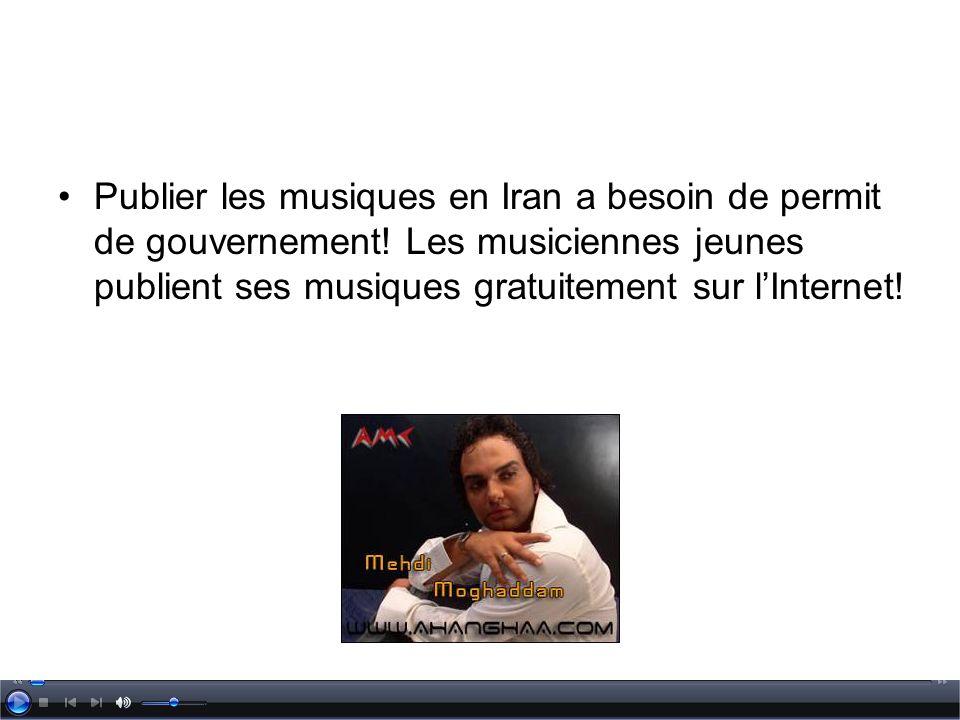 Publier les musiques en Iran a besoin de permit de gouvernement