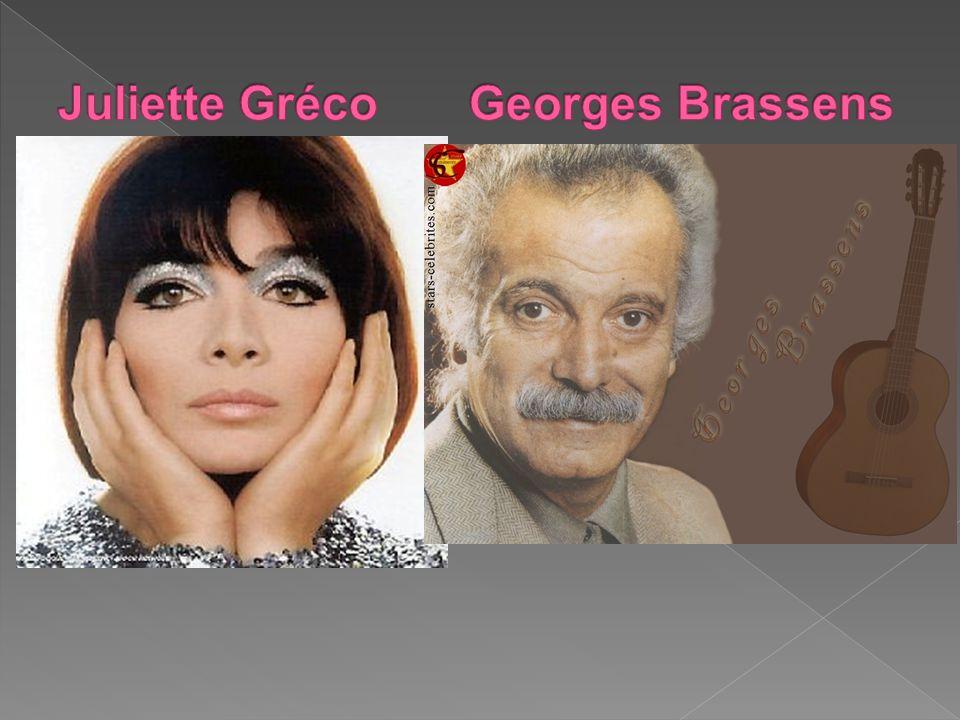 Juliette Gréco Georges Brassens
