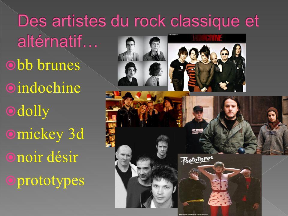 Des artistes du rock classique et altérnatif…